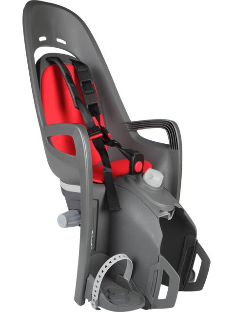 Hamax Zenith Relax Barnesæde til cykel Bagagebærer grå/rød